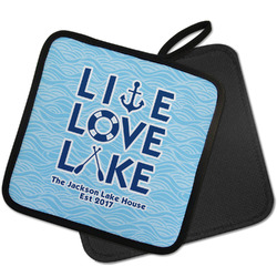 Live Love Lake Pot Holder w/ Name or Text