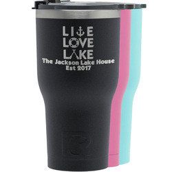 Live Love Lake RTIC Tumbler - Black (Personalized)