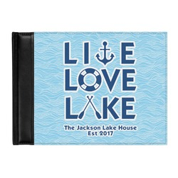 Live Love Lake Genuine Leather Guest Book (Personalized)