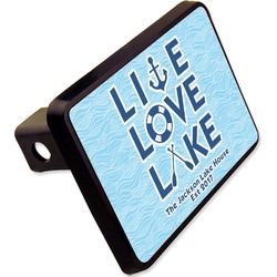 "Live Love Lake Rectangular Trailer Hitch Cover - 2"" (Personalized)"