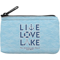 Live Love Lake Rectangular Coin Purse (Personalized)