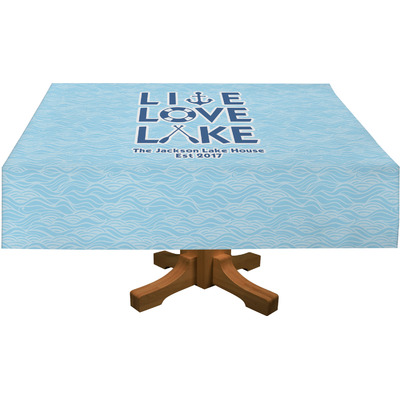 """Live Love Lake Tablecloth - 58""""x102"""" (Personalized)"""
