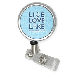 Live Love Lake Retractable Badge Reel (Personalized)