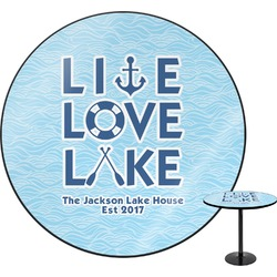 Live Love Lake Round Table (Personalized)