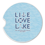 Live Love Lake Sandstone Car Coasters (Personalized)