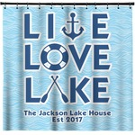 Live Love Lake Shower Curtain (Personalized)