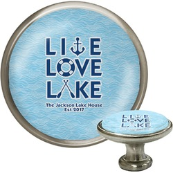 Live Love Lake Cabinet Knob (Silver) (Personalized)