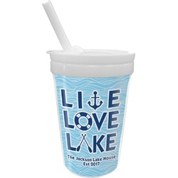 Live Love Lake Sippy Cup with Straw (Personalized)