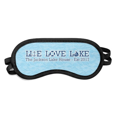 Live Love Lake Sleeping Eye Mask (Personalized)