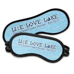 Live Love Lake Sleeping Eye Masks (Personalized)