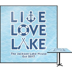 """Live Love Lake Square Table Top - 30"""" (Personalized)"""