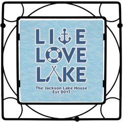 Live Love Lake Square Trivet (Personalized)