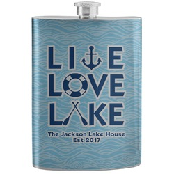 Live Love Lake Stainless Steel Flask (Personalized)