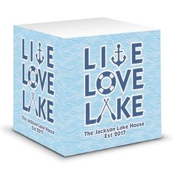 Live Love Lake Sticky Note Cube (Personalized)