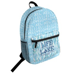 Live Love Lake Student Backpack (Personalized)