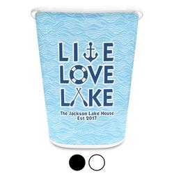 Live Love Lake Waste Basket (Personalized)