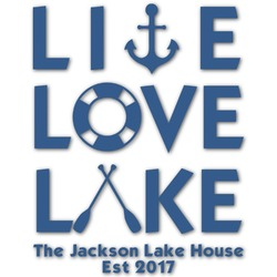 Live Love Lake Graphic Decal - XLarge (Personalized)