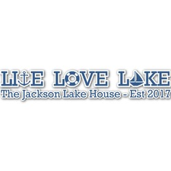 Live Love Lake Name/Text Decal - Large (Personalized)