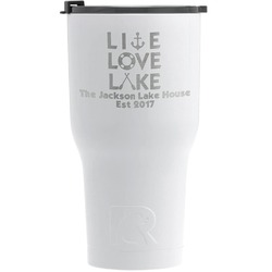Live Love Lake RTIC Tumbler - White - Engraved Front (Personalized)