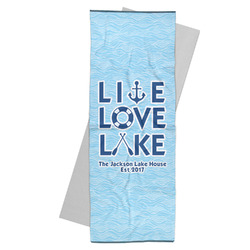 Live Love Lake Yoga Mat Towel (Personalized)