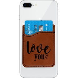 Love Quotes and Sayings Leatherette Phone Wallet (Personalized)