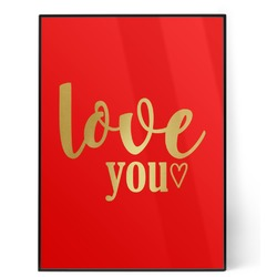 Love Quotes and Sayings 5x7 Red Foil Print (Personalized)