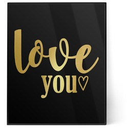 Love Quotes and Sayings 8x10 Foil Wall Art - Black (Personalized)