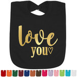 Love Quotes and Sayings Foil Baby Bibs (Personalized)
