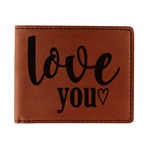 Love Quotes and Sayings Leatherette Bifold Wallet (Personalized)