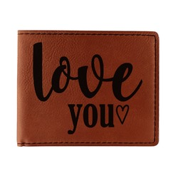 Love Quotes and Sayings Leatherette Bifold Wallet - Double Sided (Personalized)