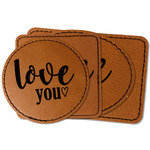 Love Quotes and Sayings Faux Leather Iron On Patch