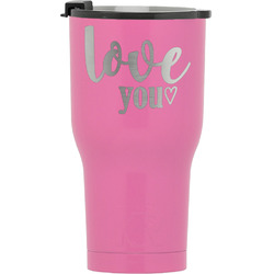 Love Quotes and Sayings RTIC Tumbler - Pink (Personalized)