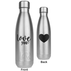 Love Quotes and Sayings RTIC Bottle - Silver - Engraved Front & Back (Personalized)