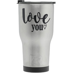 Love Quotes and Sayings RTIC Tumbler - Silver (Personalized)