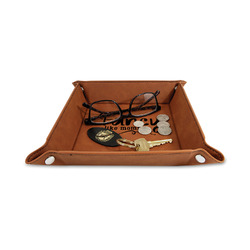 """Mom Quotes and Sayings 6"""" x 6"""" Leather Valet Tray"""