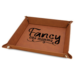 """Mom Quotes and Sayings 9"""" x 9"""" Leather Valet Tray"""