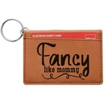 Mom Quotes and Sayings Leatherette Keychain ID Holder (Personalized)