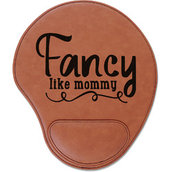 Mom Quotes and Sayings Leatherette Mouse Pad with Wrist Support (Personalized)