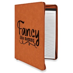 Mom Quotes and Sayings Leatherette Zipper Portfolio with Notepad (Personalized)