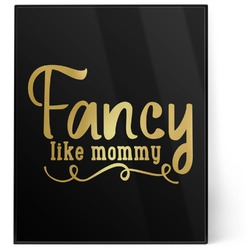Mom Quotes and Sayings 8x10 Foil Wall Art - Black (Personalized)