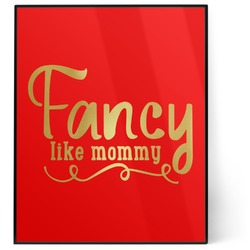 Mom Quotes and Sayings 8x10 Foil Wall Art - Red (Personalized)