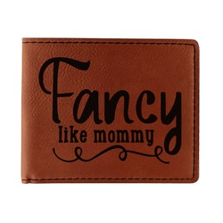 Mom Quotes and Sayings Leatherette Bifold Wallet (Personalized)