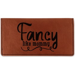 Mom Quotes and Sayings Leatherette Checkbook Holder (Personalized)