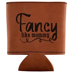 Mom Quotes and Sayings Leatherette Can Sleeve (Personalized)