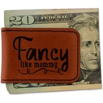 Mom Quotes and Sayings Leatherette Magnetic Money Clip (Personalized)
