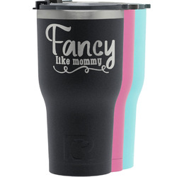 Mom Quotes and Sayings RTIC Tumbler - Black (Personalized)