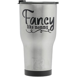 Mom Quotes and Sayings RTIC Tumbler - Silver - Engraved Front (Personalized)