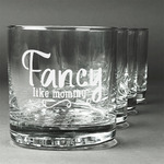 Mom Quotes and Sayings Whiskey Glasses (Set of 4) (Personalized)