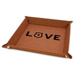 """Police Quotes and Sayings 9"""" x 9"""" Leather Valet Tray"""
