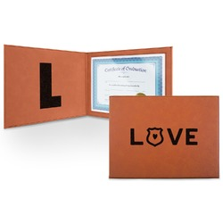 Police Quotes and Sayings Leatherette Certificate Holder (Personalized)